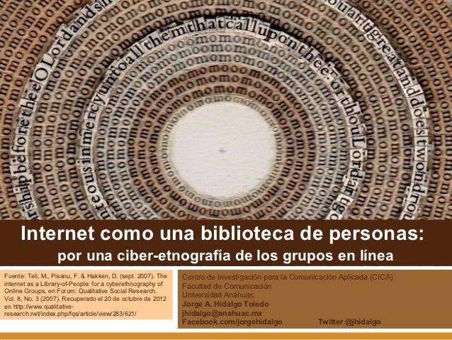 Internet como una librería de personas