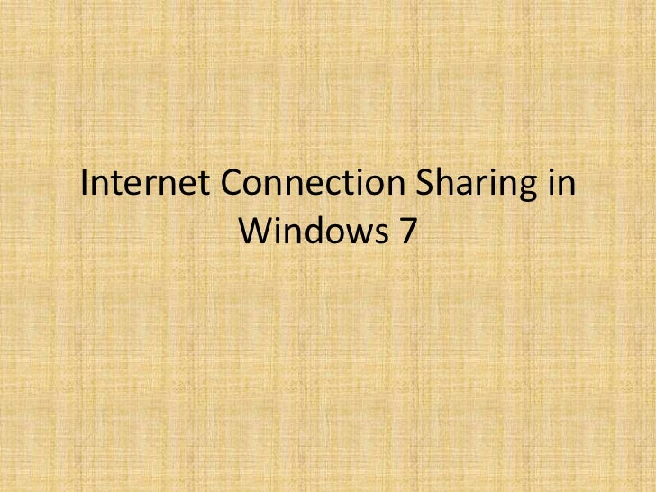 how to connect lan connection in windows 7
