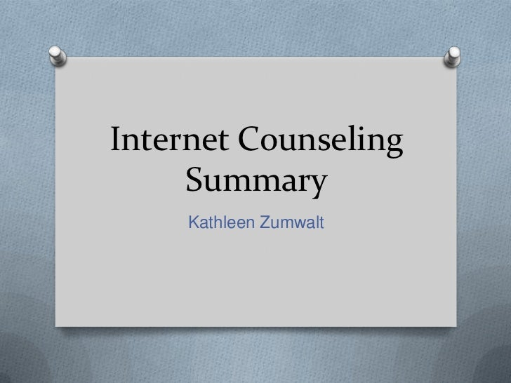 Internet counseling