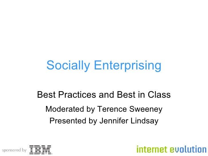 Socially Enterprising