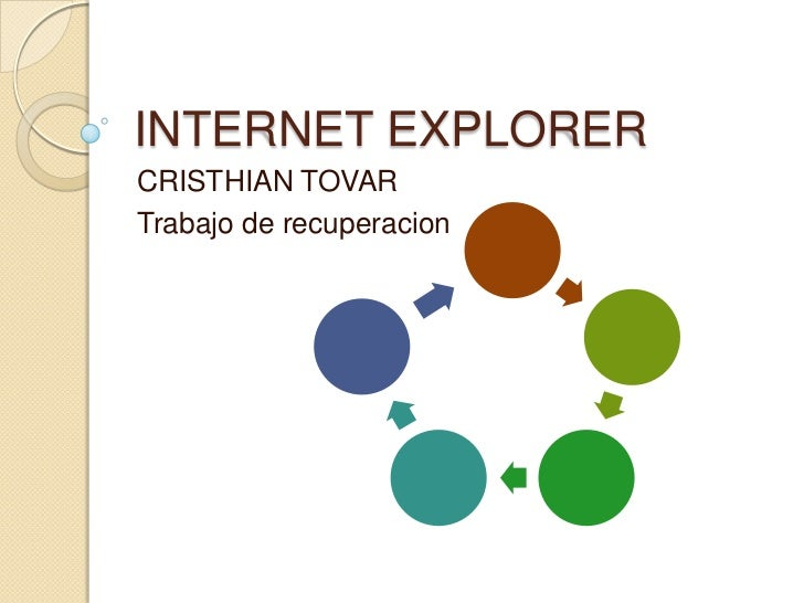 INTERNET EXPLORER<br />CRISTHIAN TOVAR<br />Trabajo de recuperacion<br />