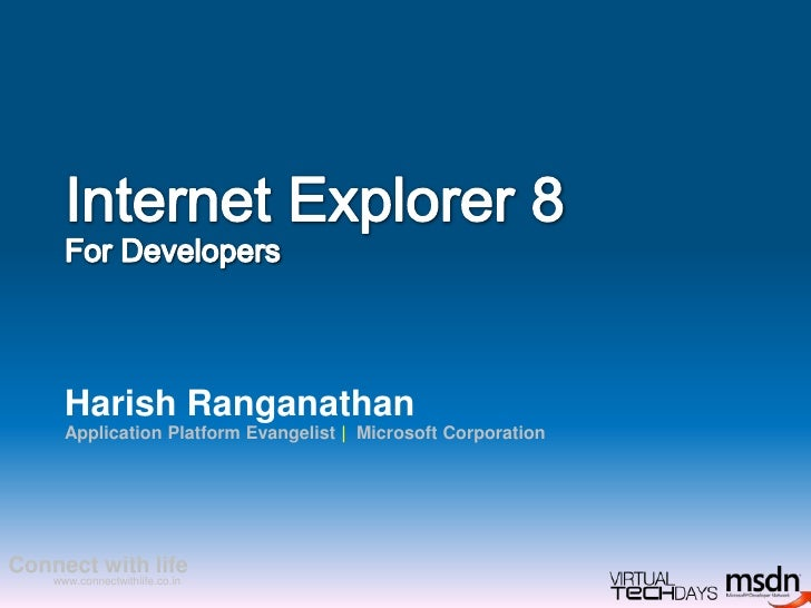 Internet Explorer 8 for Web Developers