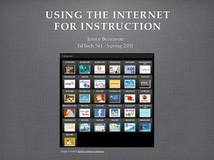 Internet for instruction 541