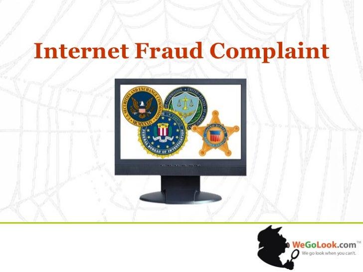 Internet Fraud Complaint