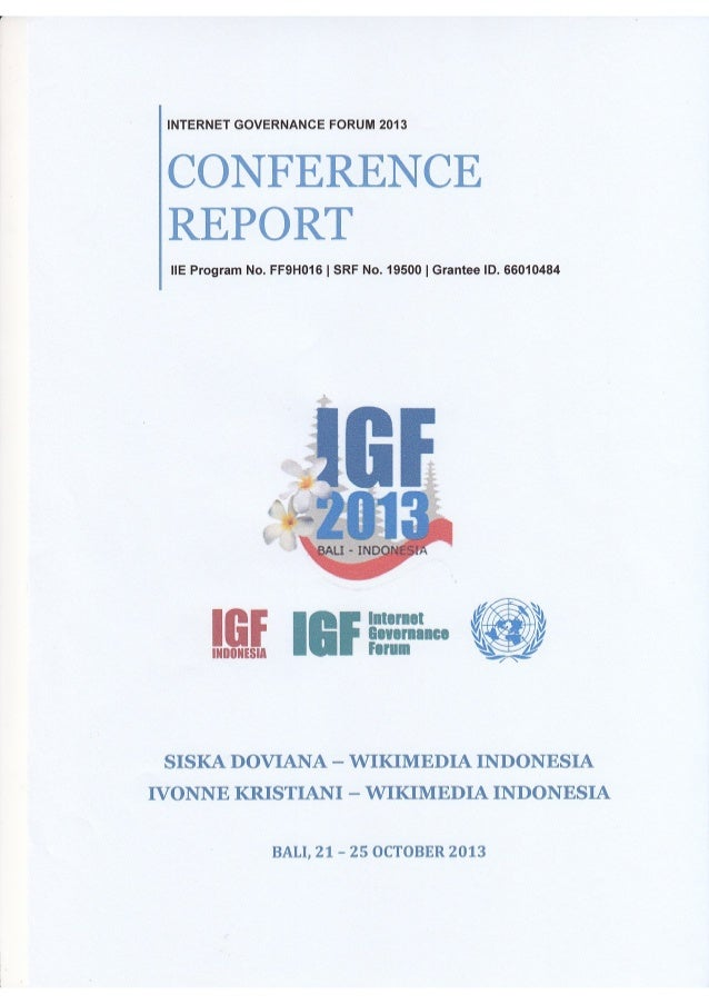 Internet Governance Forum 2013 IIEF report