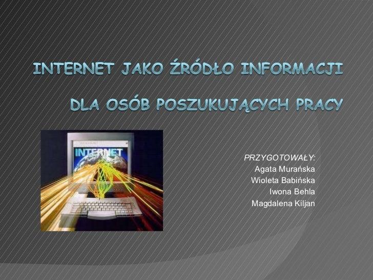 Internet jako źródło informacji
