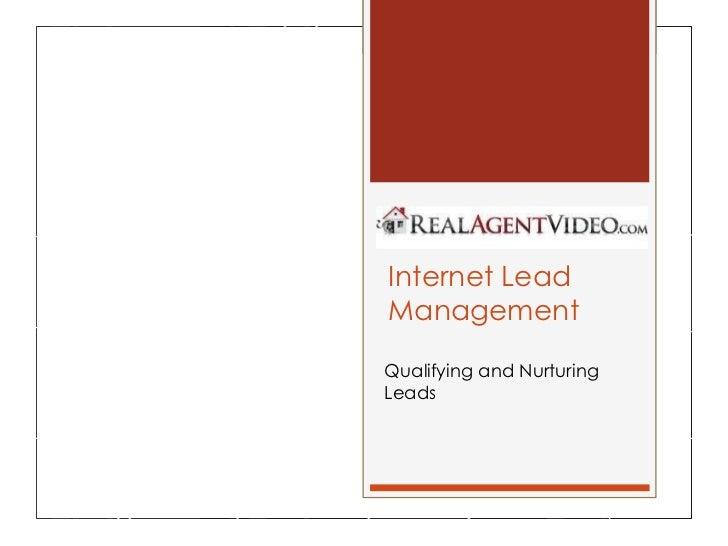The Basics of Internet Lead Management