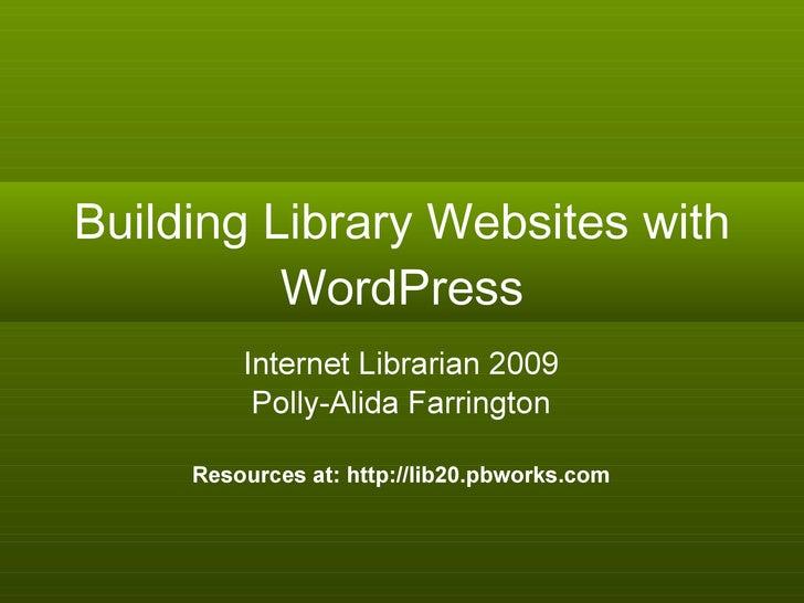 Internet Librarian Slides