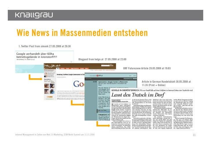 Wie News in Massenmedien entstehen    1. Twitter Post from simonk 27.05.2008 at 20:38                                     ...