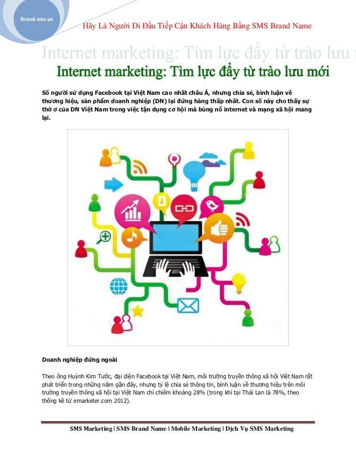 Brand.sms.vn                      Hãy Là Người Đi Đầu Tiếp Cận Khách Hàng Bằng SMS Brand Name       Số người sử dụng Faceb...