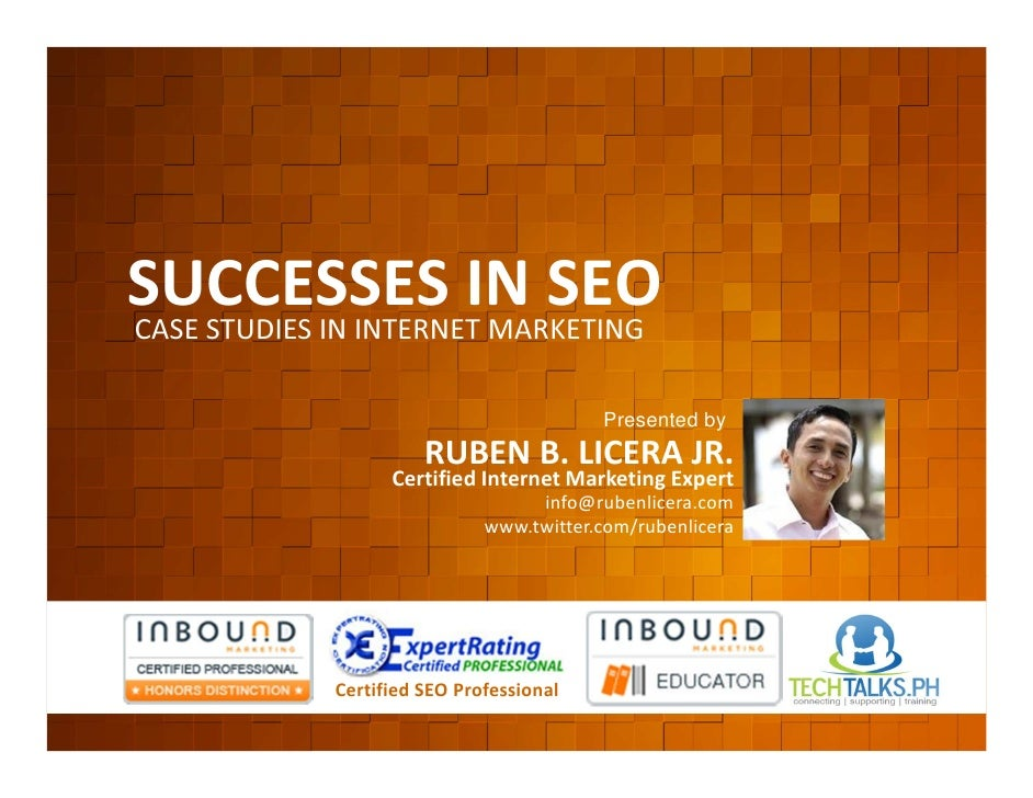 Successes In Internet Marketing via SEO