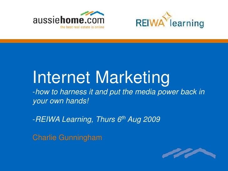 Internet Marketing Aug 09