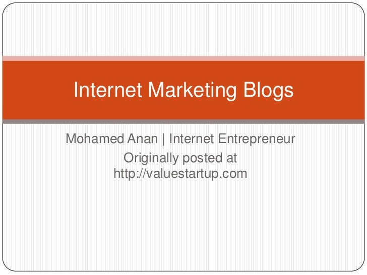 Internet marketing blogs