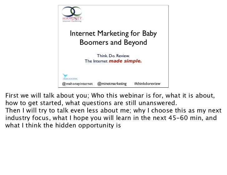 Internet marketing for baby booomers and beyond.key