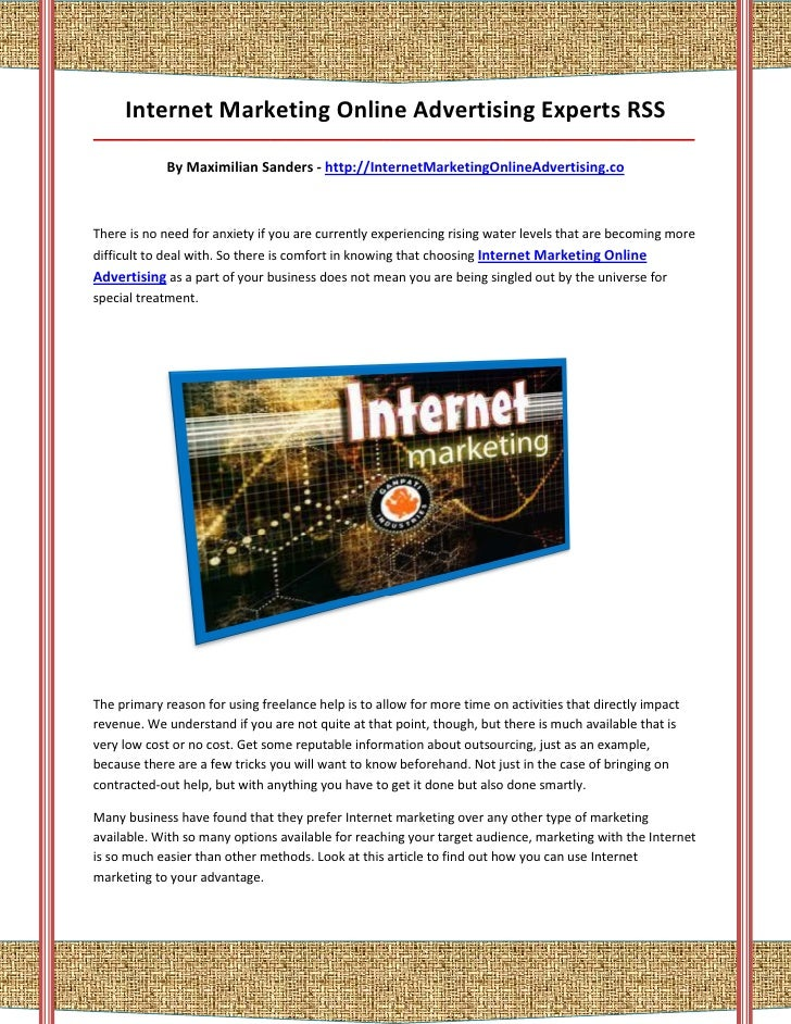 Internet marketing online advertising
