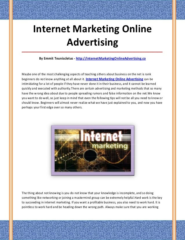 Internet marketing online advertising