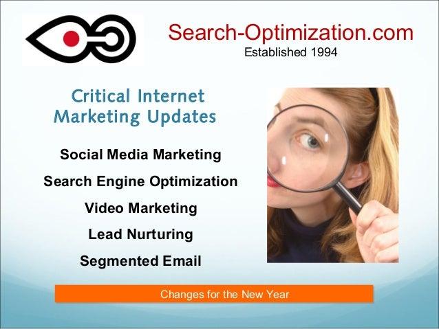 Critical Internet Marketing Updates Search-Optimization.com Established 1994 Social Media Marketing Search Engine Optimiza...
