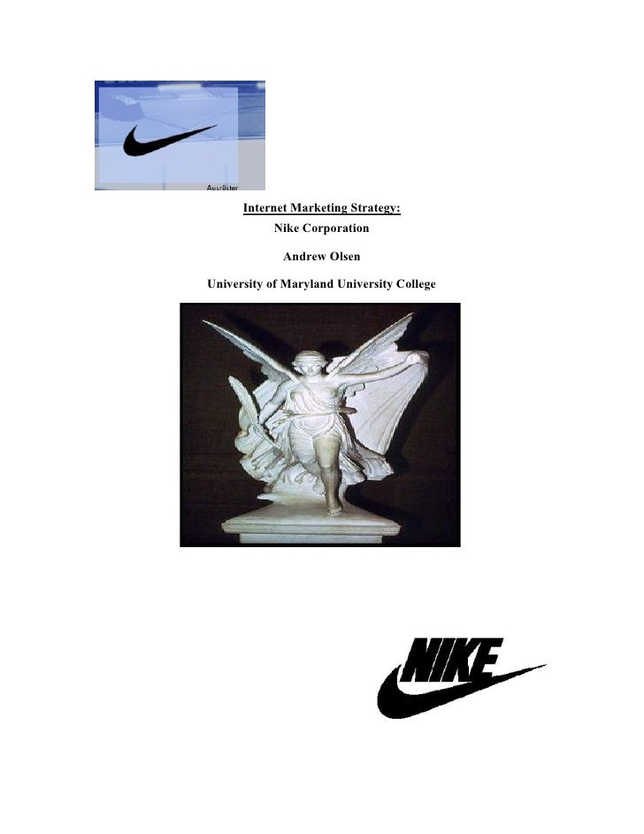 Internet marketing startegy for Nike