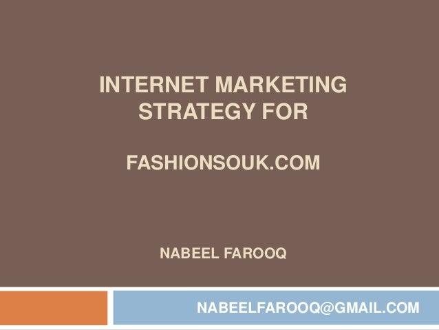 Internet Marketing Strategy (SEO/PPC) for FashionSouk.com