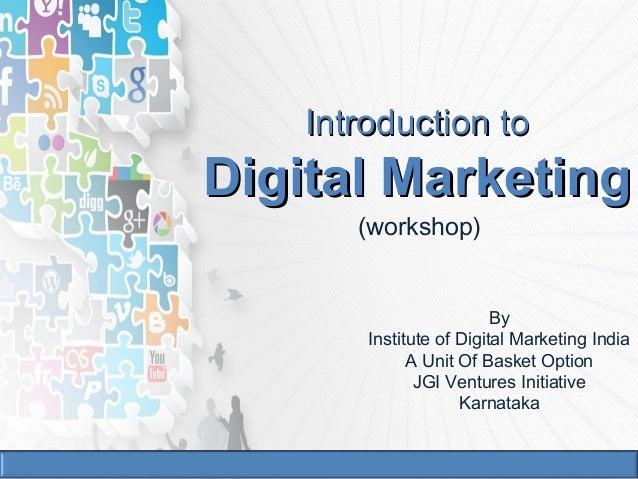 Internet marketing workshop bangalore