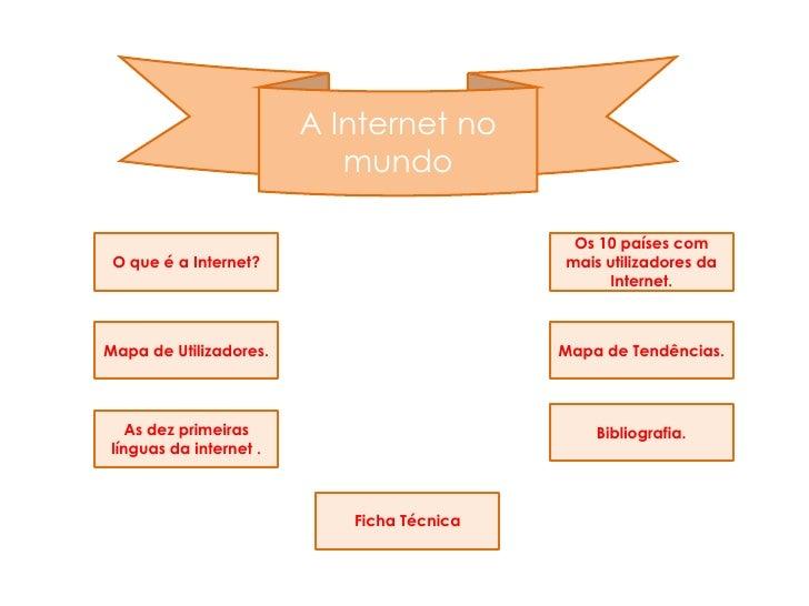 A Internet no                            mundo                                              Os 10 países com  O que é a In...