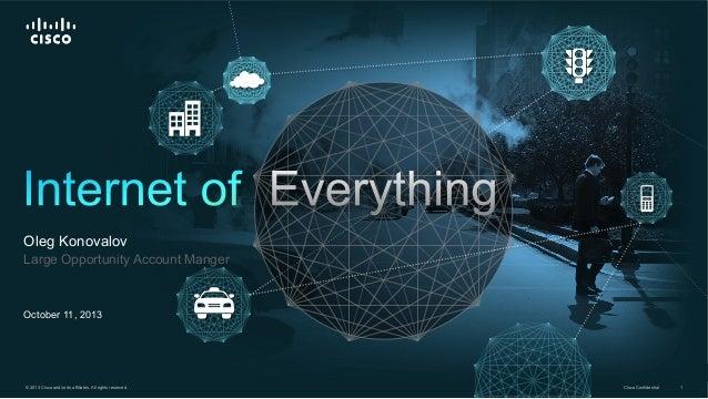 Internet of everything - Деловой Интернет 2013