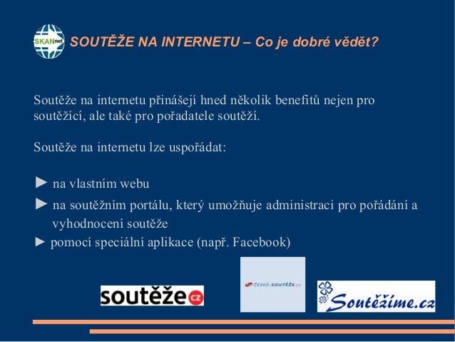 Internetové soutěže prezentace