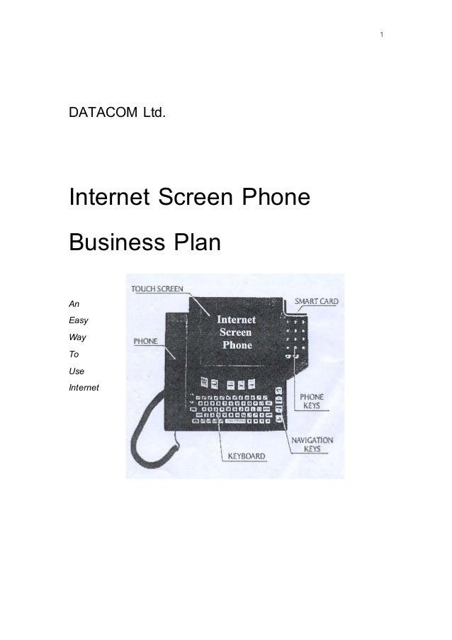1 DATACOM Ltd. Internet Screen Phone Business Plan An Easy Way To Use Internet