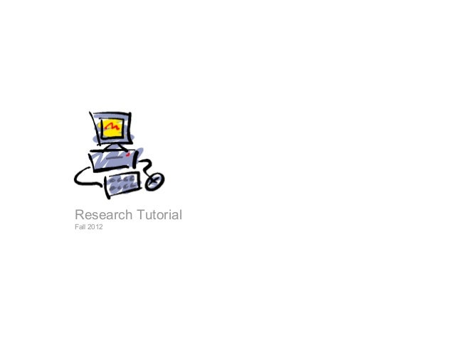 Internet research tutorial