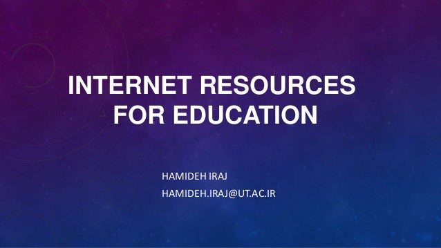 Internet resources for education - English Presentation