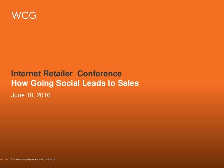 How Social Media Leads to Sales: Bob Pearson, Internet Retailer Conference, June 10 2010