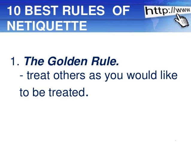netiquette 10 rules of dating