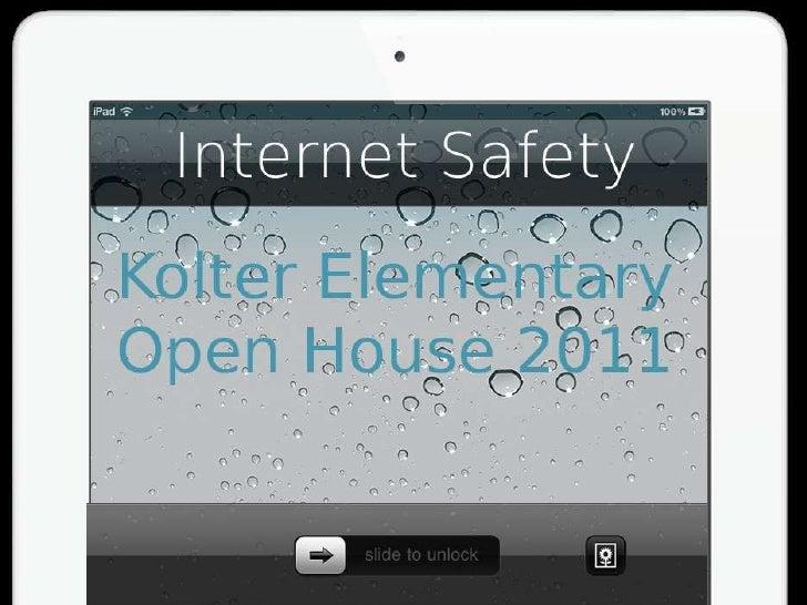 Internet safety open house 2011
