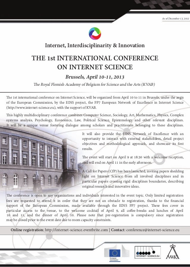 Internet science conference