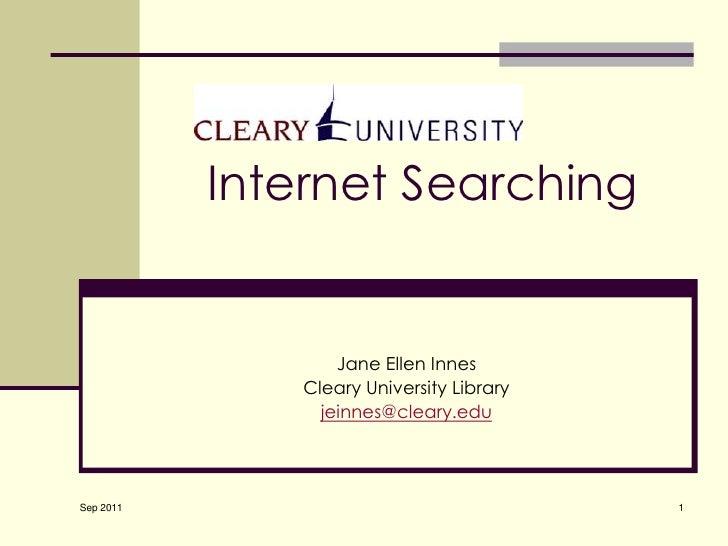 Internet Searching - September 2011