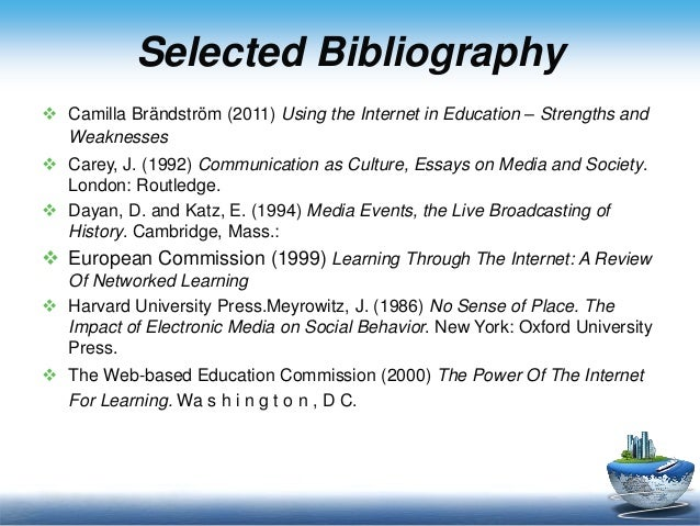 essay use internet education The impact of the internet on education is not straightforward the problem of unequal access makes traditional training models prevail.
