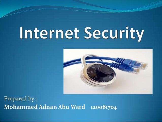 Prepared by :Mohammed Adnan Abu Ward 120081704