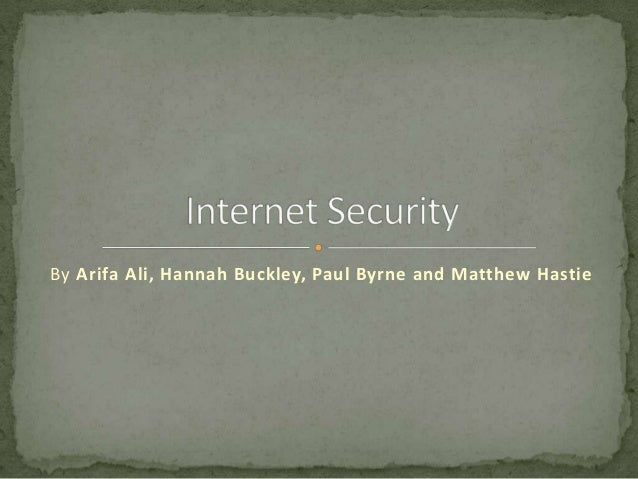 Internet security powerpoint