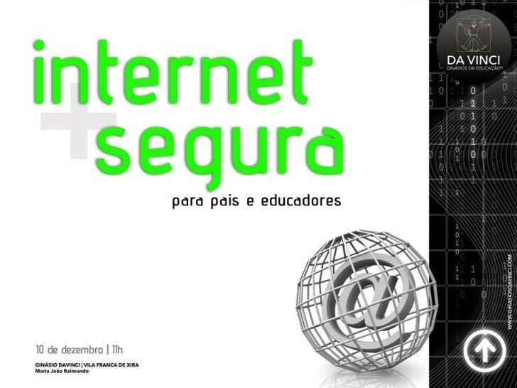 EU Kids online• Em 2010 78% das crianças portuguesas  entre 9 e 16 anos usam a internet.• 60% dos jovens acedem à internet...