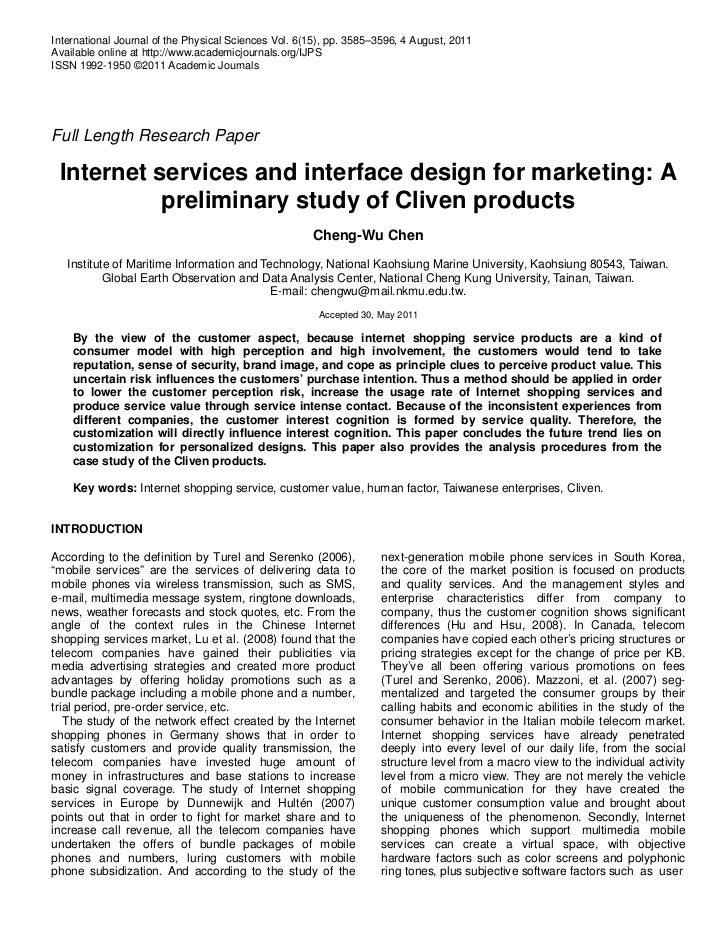 Internet services and interface design for marketing