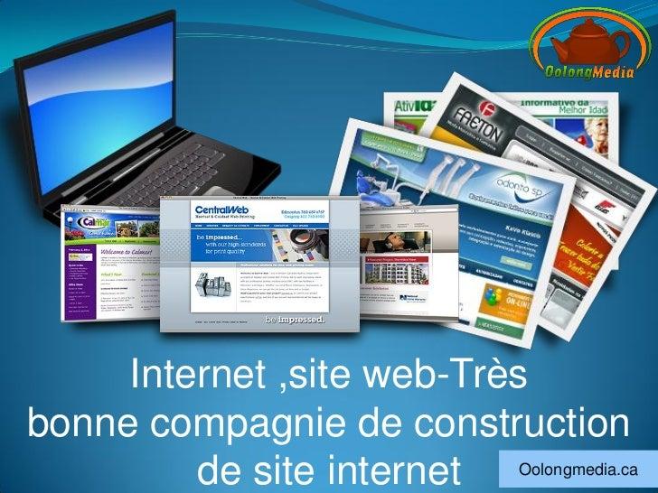 Internet ,site web-Trèsbonne compagnie de construction         de site internet Oolongmedia.ca