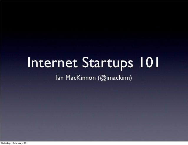 Internet startups101