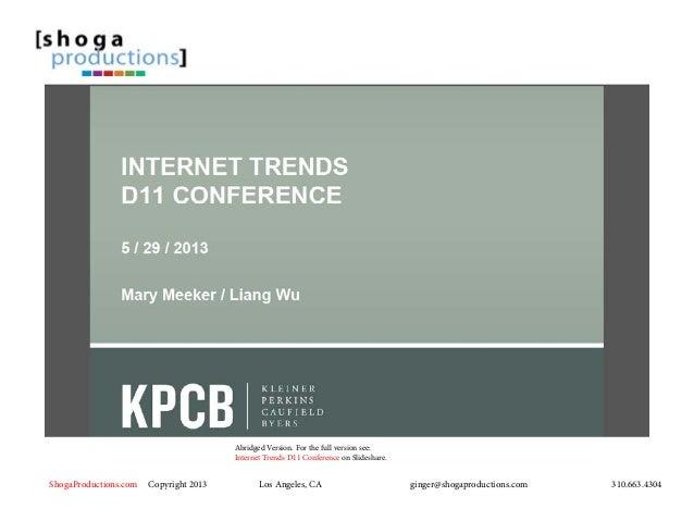 2013 Internet Statistics