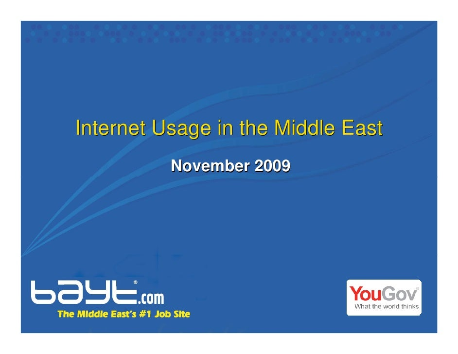 Internet Usage in the Middle East           November 2009