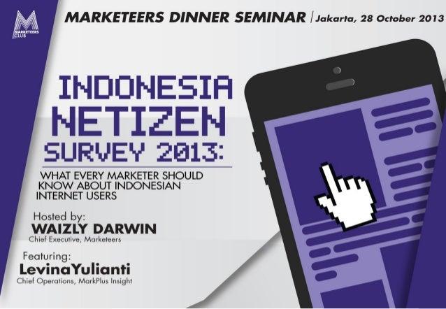 Markplus on indonesia internet users 2013 - marketeers nov 2013