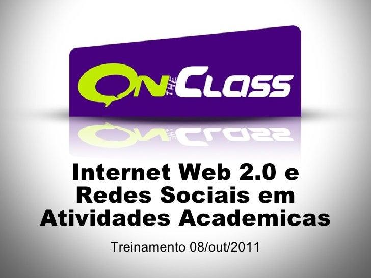 Internet web 20 e redes sociais na educacao