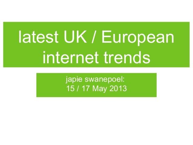 Internet world2013 feedback