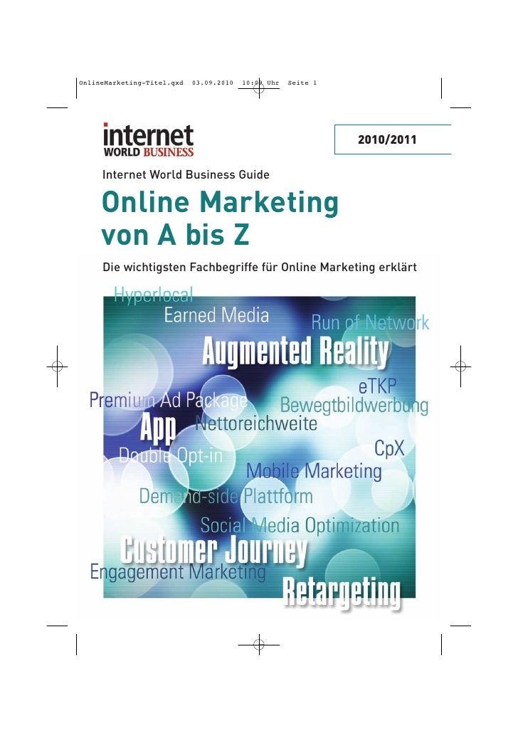 OnlineMarketing-Titel.qxd   03.09.2010   10:09 Uhr   Seite 1                                                              ...