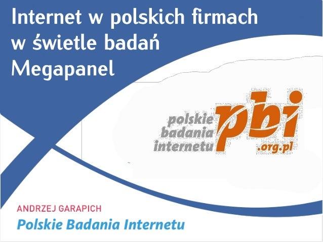 Internet w polskich firmachw świetle badańMegapanel