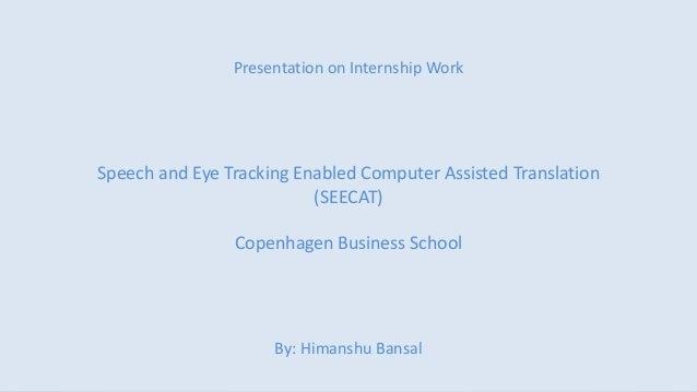 Intern presentation